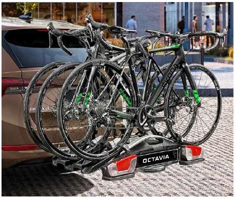 Fahrradträger Anhängerkupplung für 3 Fahrräder